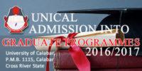 UNICAL 2016/2017 Postgraduate Admission Programmes Announced