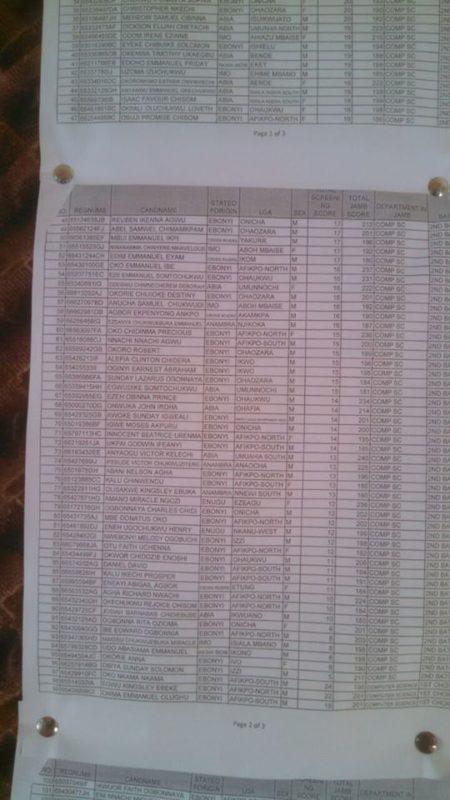 poly unwana admission list