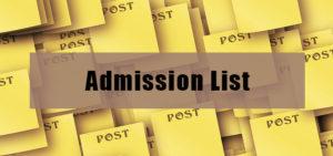 admission lIst