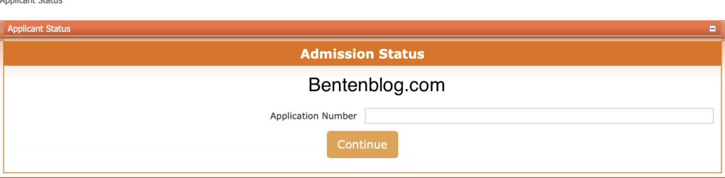 Offa Poly admission status checking page
