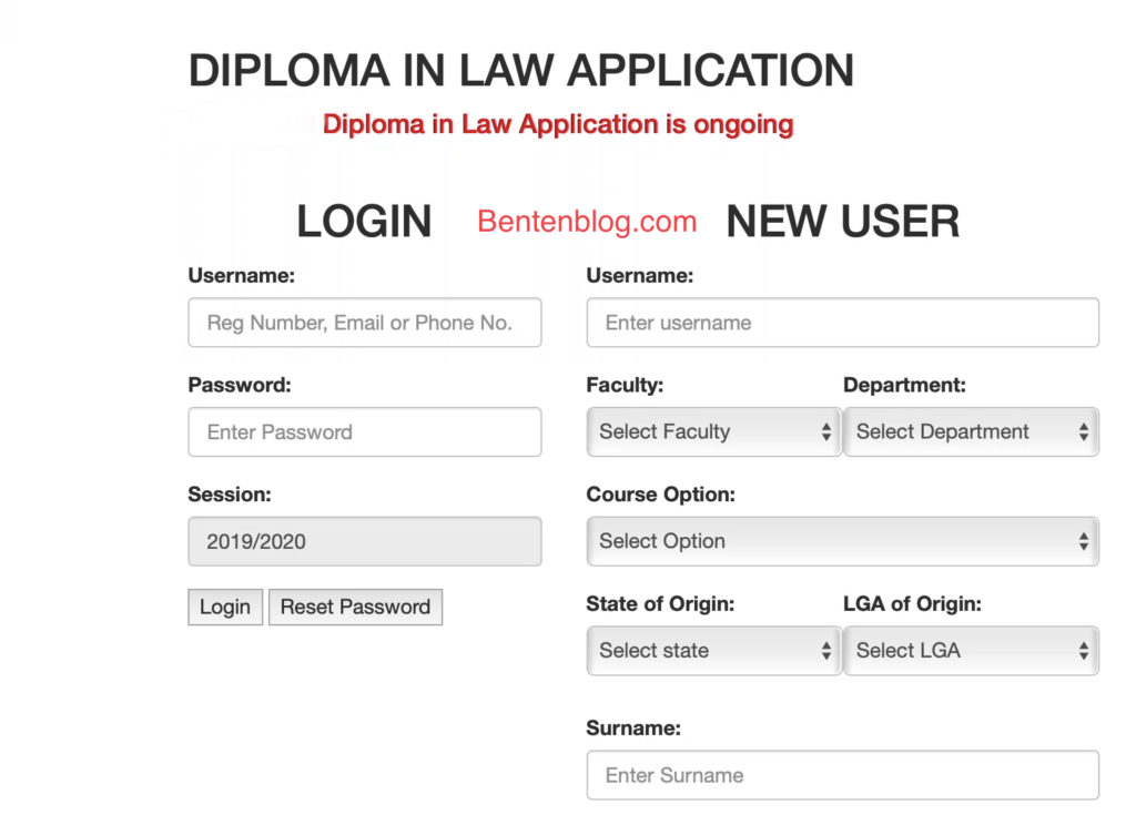 Guidelines to apply for UNIPORT diploma in law admission
