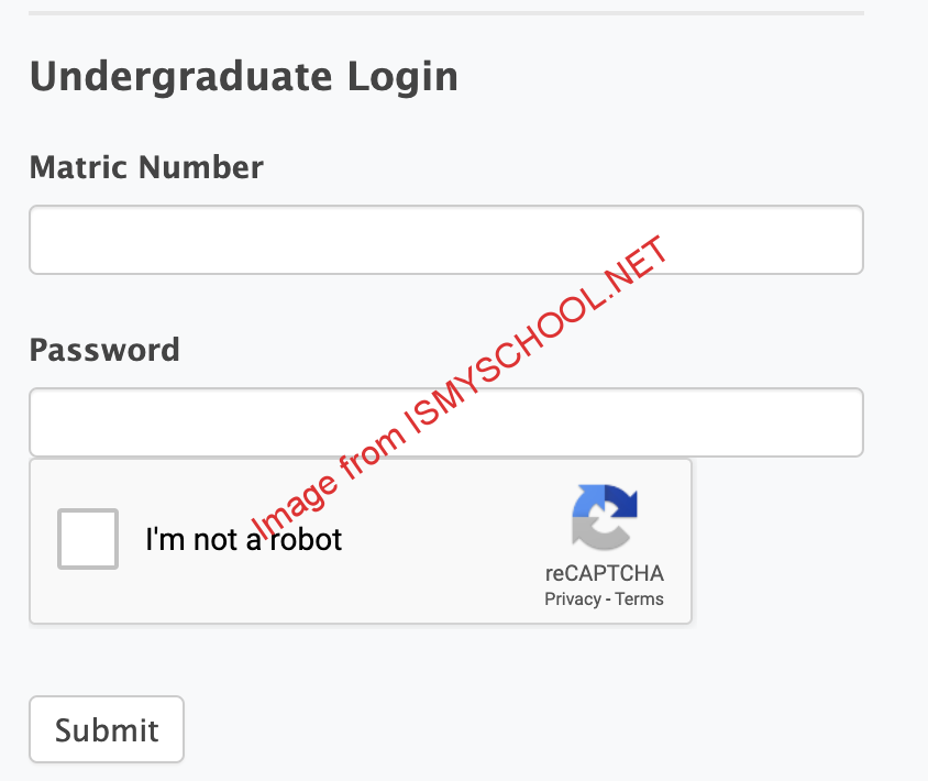 Registration page of the Fugashua student portal