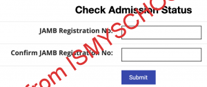 coou portal admission checking page