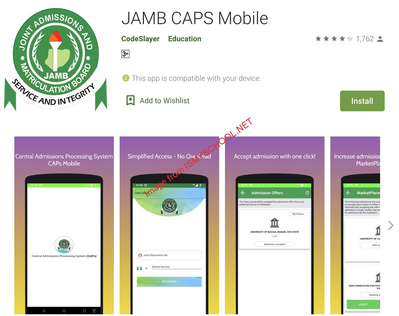 jamb caps app download on playstore