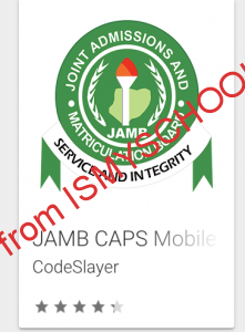 jamb caps mobile app search