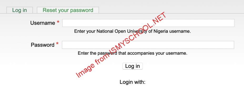 noun student login page