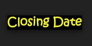 closing date